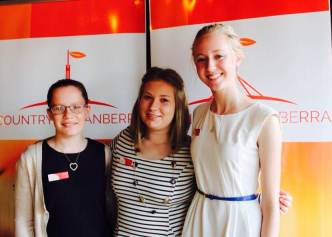 Vesna (middle) and fellow winners Libby (left) & Hannah (right)