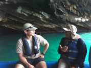 Naturalist education in a cave