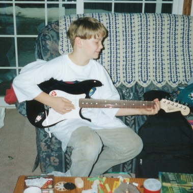 This is my first electric guitar. It has since taken on many different looks, but it was a great guitar to learn on and is probably the main reason I now favour Strats over anything else.
