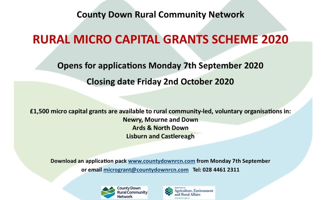 Rural Micro Capital Grants Scheme 2020