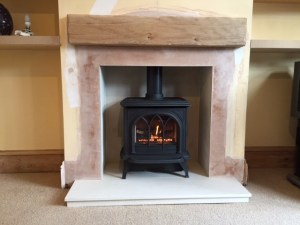 Gazco Stockton 5 gas stove with beam