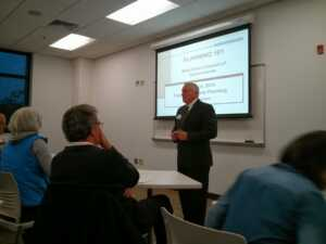 Image of Mayor Summers at Westshore Planning 101 workshop