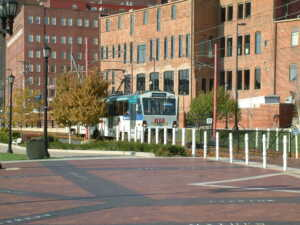 photo of a RTA rapid car in Cleveland