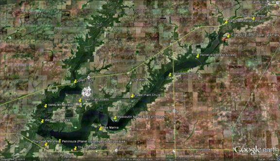 Clinton Lake Map