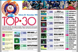 The Nintendo Power Top 30 for Issue 30.