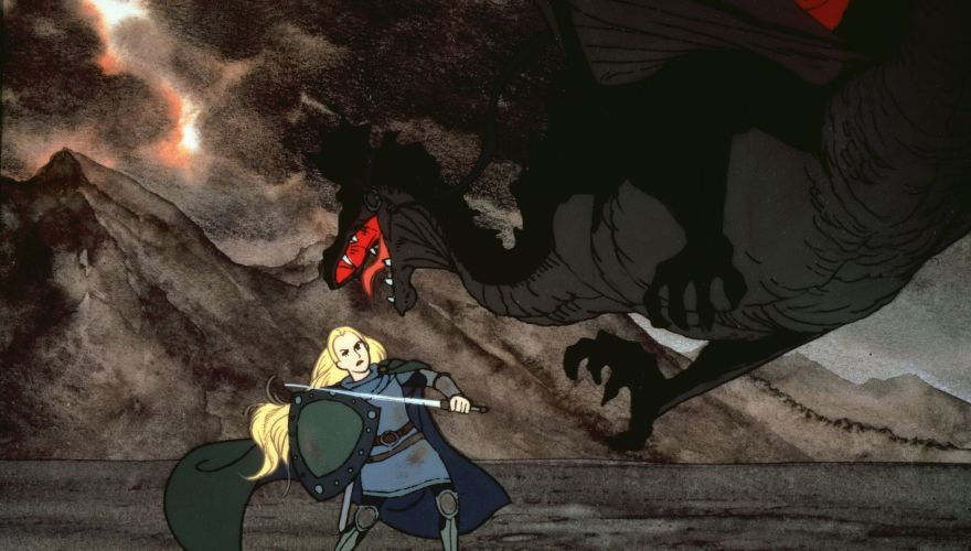 Eowyn fighting the Witch King's Fell Beast