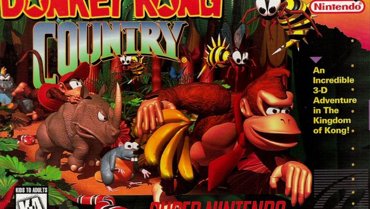 Box art for Donkey Kong Country on SNES