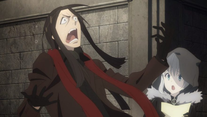 Waver Velvet (Lord El-Melloi) reacting in shock and pain