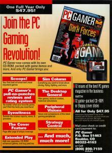 Ad for PC Gamer Magazine