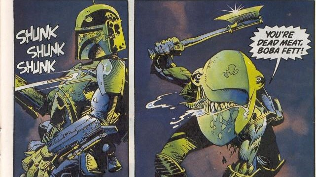 Boba Fett and Bar-Kooda fight