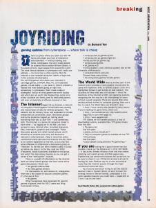 Joyriding article about newsgroups.