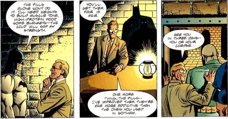 Batman negotiates for supplies.
