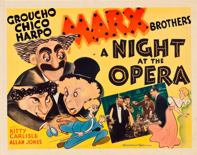 Movie poster for A Night at the Opera
