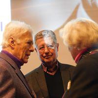 Guy Bedos, Georges Morin et (de dos) Christiane Hessel