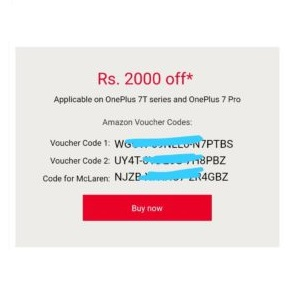 OnePlus Referral Code Get Flat ₹2000 Coupon Code January 2020
