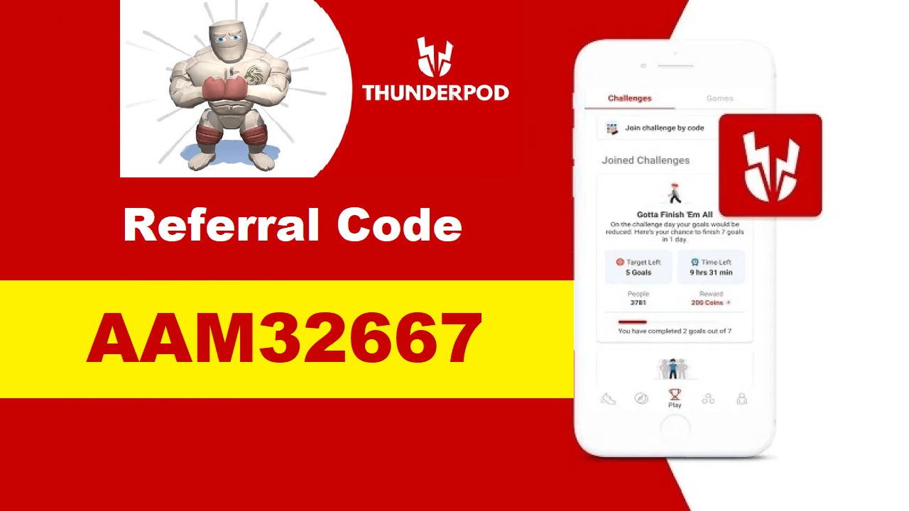 Thunderpod Referral Code Get Free Paytm Cash ₹50 + Refer & Earn