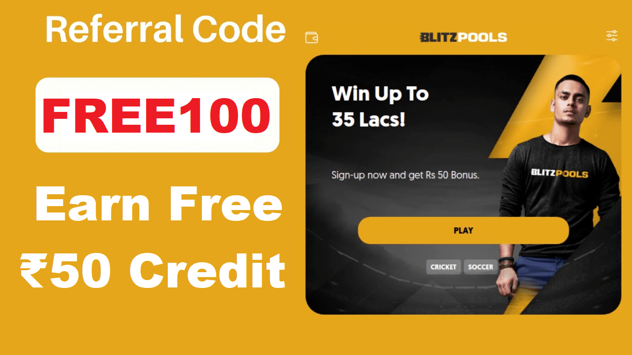 Download APK BlitzPools Referral Code Earn Free Rs 50 + Refer & Earn
