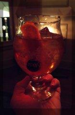 Old-Fashioned: Maison Rouge cognac VS, Evan Williams, bitters, citrus cordial, cherry.