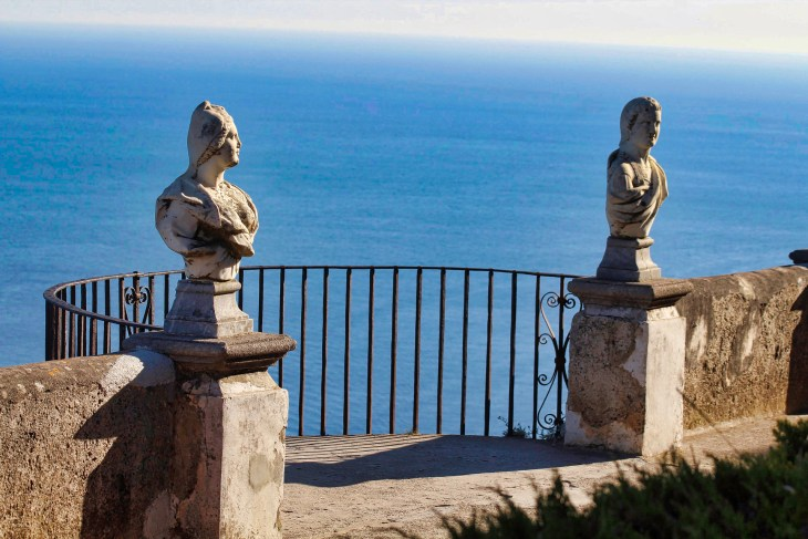 Villa Cimbrone, Ravello, Couple Coffee Joy