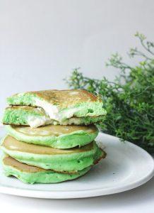 Pandan Pancakes with Coconut Custard Filling