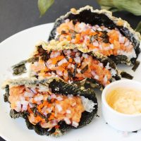 Sushi Tacos with Crispy Fried Seaweed Shells