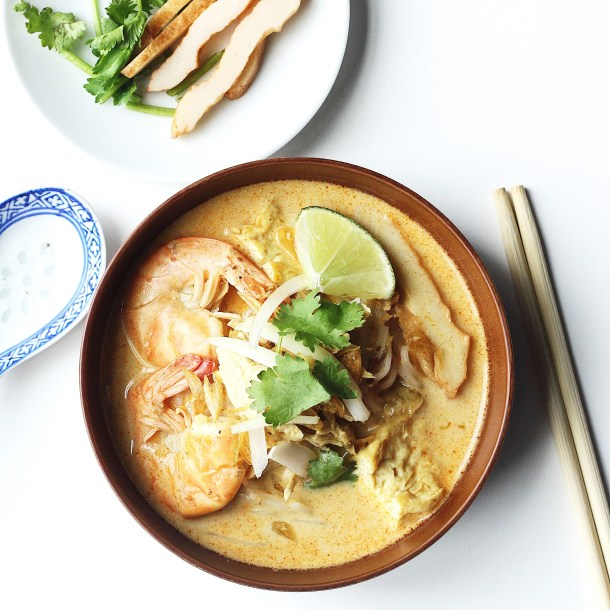 Chicken Laksa (Coconut Curry Soup) Recipe