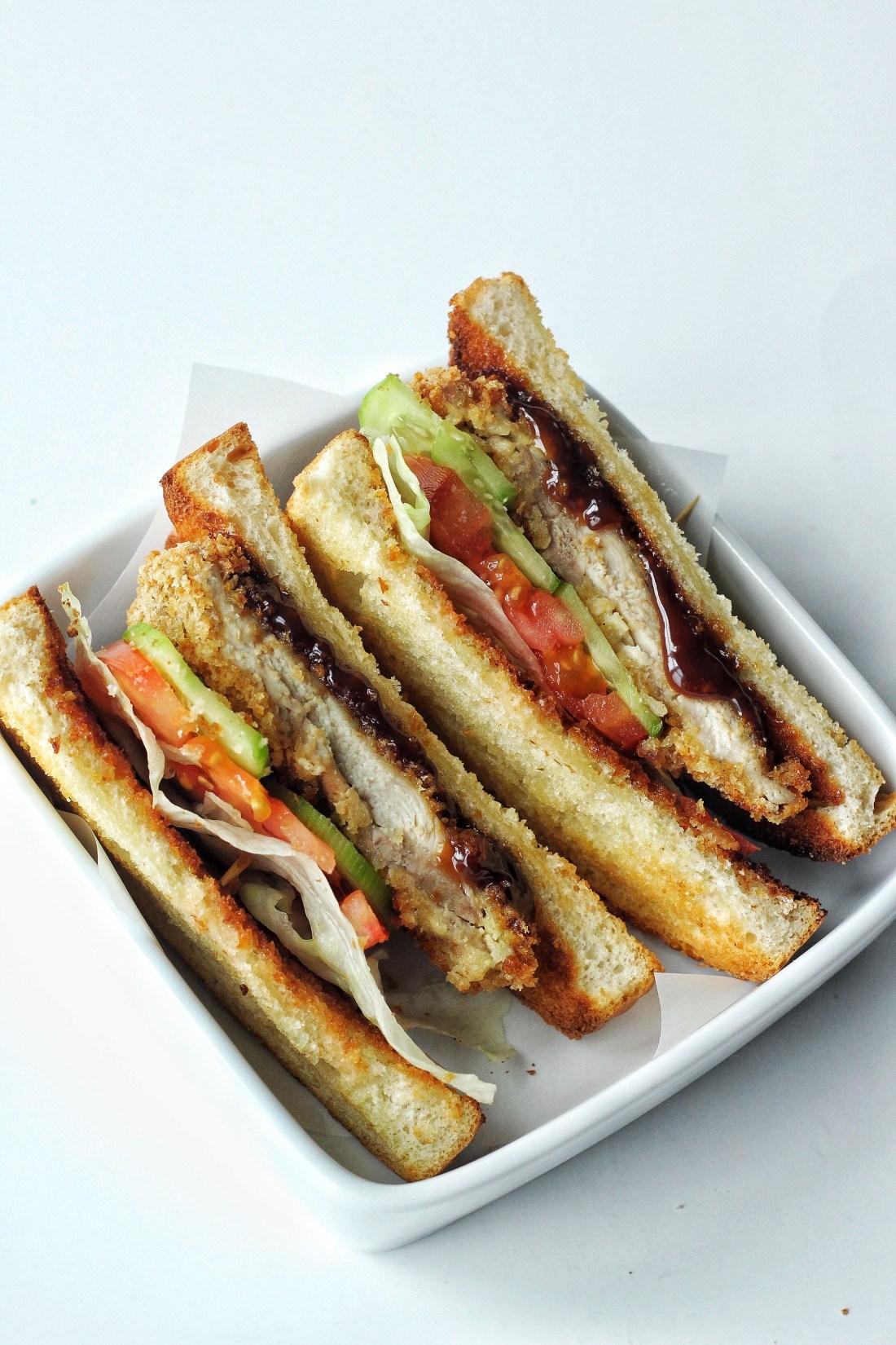 Baked Crispy Chicken Sandwich with Teriyaki Sauce