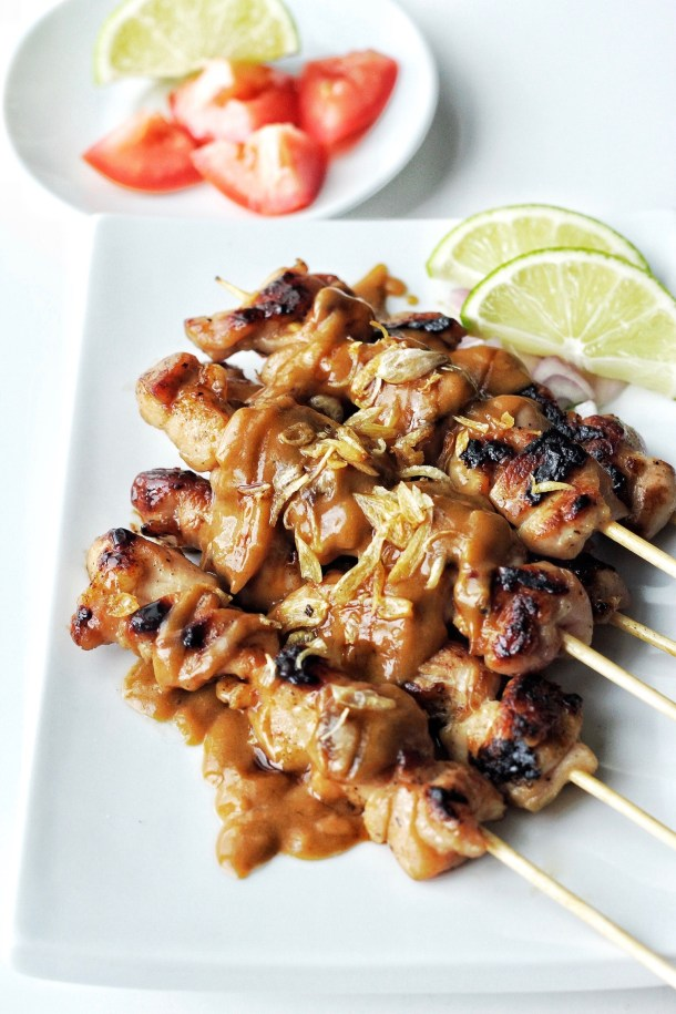 Indonesian Chicken Satay with Spicy Peanut Sauce