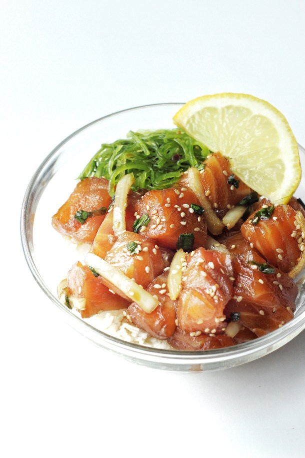Salmon Shoyu Poke Bowl Recipe