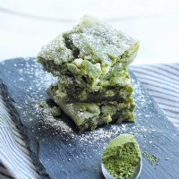 White Chocolate Matcha (Green Tea) Brownies Recipe