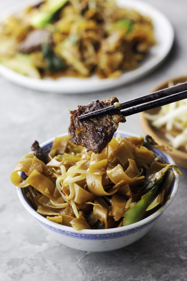 Beef Chow Fun (Stir-fried Wide Rice Noodles)