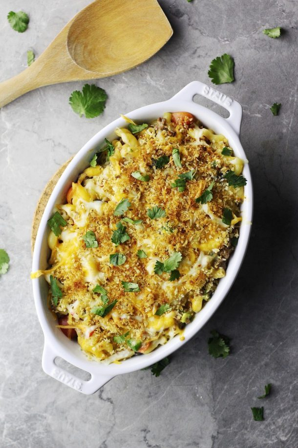 Baked Tex-Mex Mac and Cheese