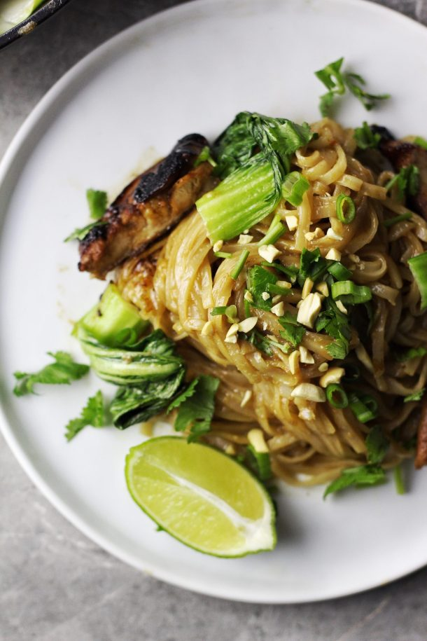 Spicy Thai-Style Peanut Lime Noodles Recipe