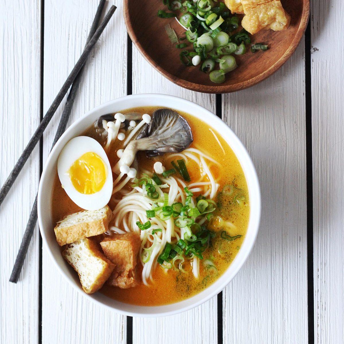 Easy Spicy Ramen with Creamy Sesame Broth