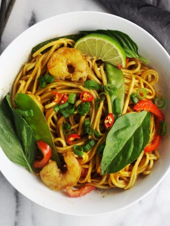 Tom Yum Fried Ramen Noodles