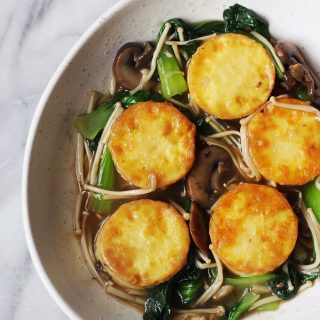 Egg Tofu with Mushroom Gravy Sauce Recipe