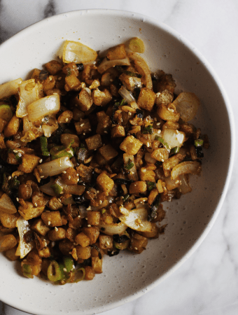 Spicy Furikake Air-Fried Potato Hash