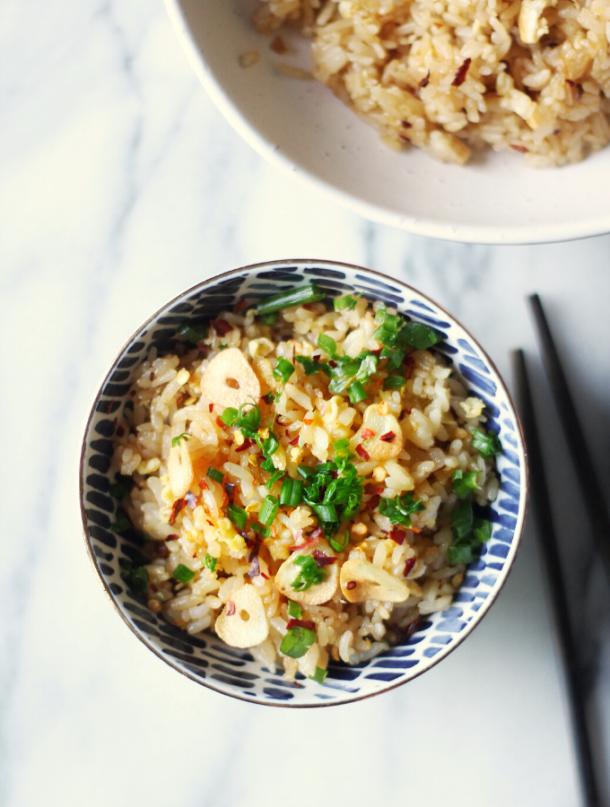 Spicy Garlic Fried Rice Recipe