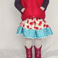 A Spin on our Child's Skirt Tutorial for Sewing BEGINNERS! :)