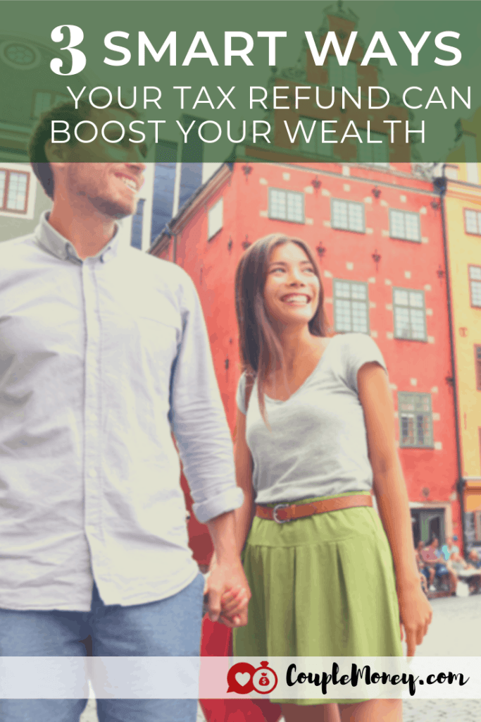 Expected a tax refund this year? Learn how you can enjoy it now and set yourselves up to build wealth! #taxes #family #money