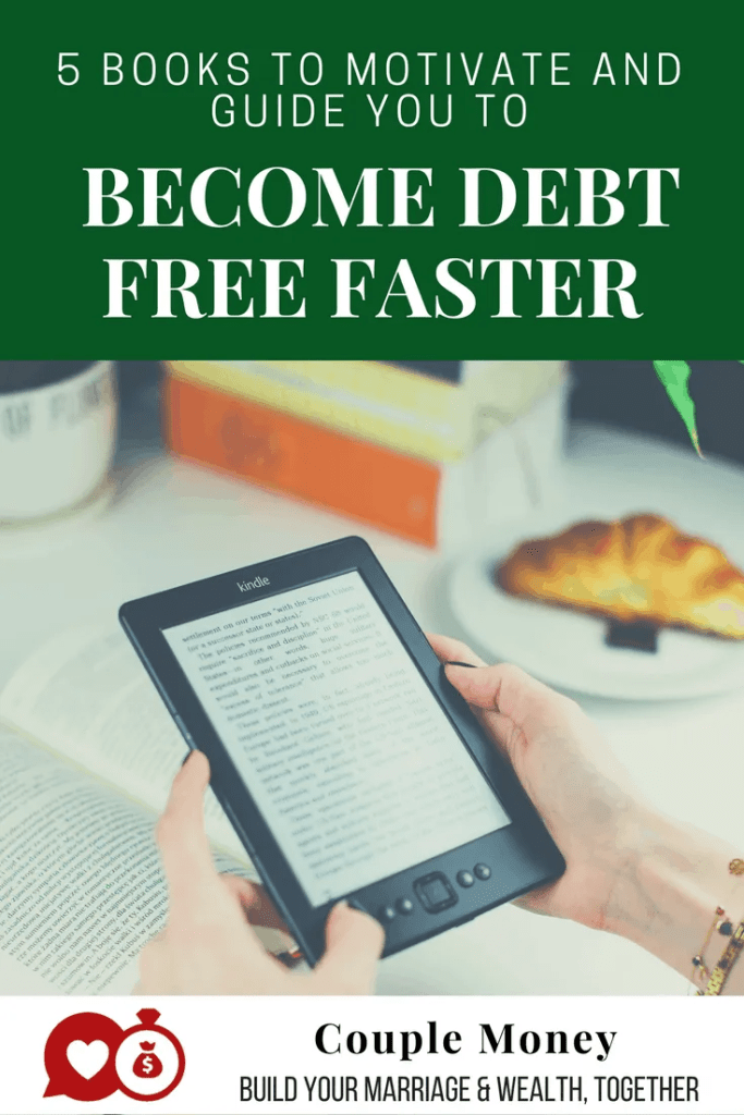 Do you feel like most your paychecks are goings towards your debts like credit cards and student loans?  I'm sharing five books that can help you stop living paycheck to paycheck and become debt free faster! #debtfree #books #money #family