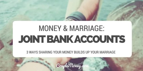 Copy of joint bank accounts couple money