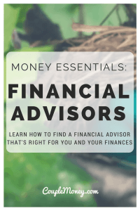 FINANCIAL ADVISORS BEHAVIOR GAP COUPLE MONEY