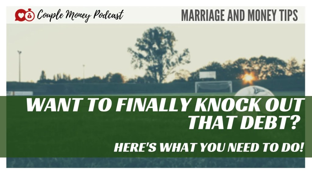 Want to finally knock out that credit card debt? Here's what you need to do this week to get started!  #moneygoals #marriage #money