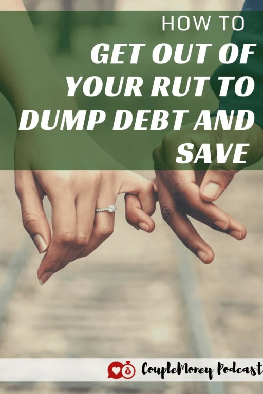 Do you feel like you're stuck in a rut with your finances? Learn how you can break through and start making progress to dump your debt and start saving together! #marriage #money