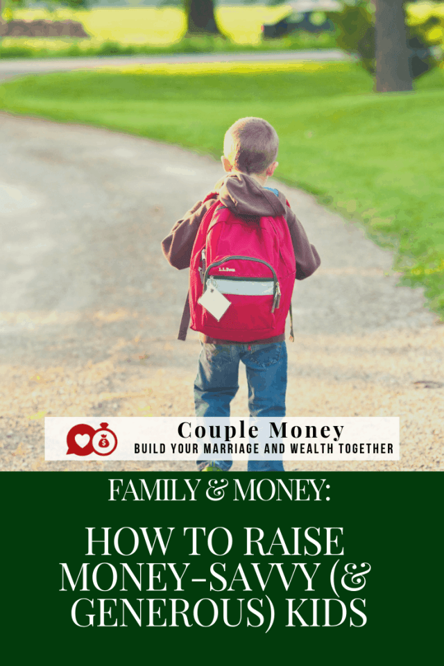 Whether we plan to or not our kids will pick up their financial habits based on what we say and do around them. Learn strategies to raise money-savvy kids who are generous! #family #money #parenting #debtfree