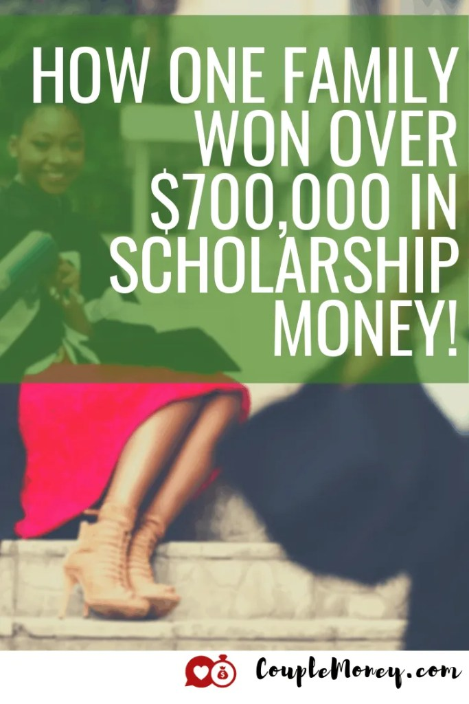 Want to help your kid graduate college debt-free? Learn the strategy and tactics one mom used to snag her son $700,000 in scholarships! #debtfree #scholarships #familyfinances