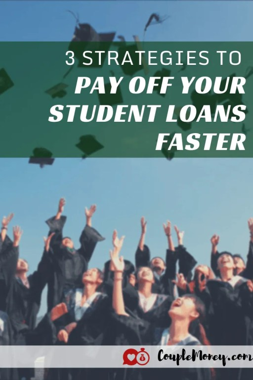 Sick and tired of your student loans? Do they seem to be nudging down too slowly while draining your monthly budget? Learn the best strategies and tactics to pay your student loans off faster! #debtfree #payoffdebts #money