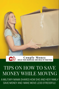 stressed over a big move coming up? A military mama shares strategies to have less stress and save money while moving!
