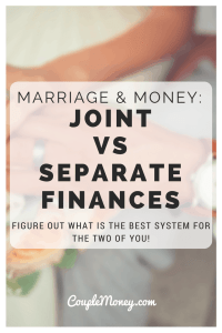 Trying to decide how to handle your finances as a couple? Learn about joint vs separate accounts to see whats the best fit for you two!